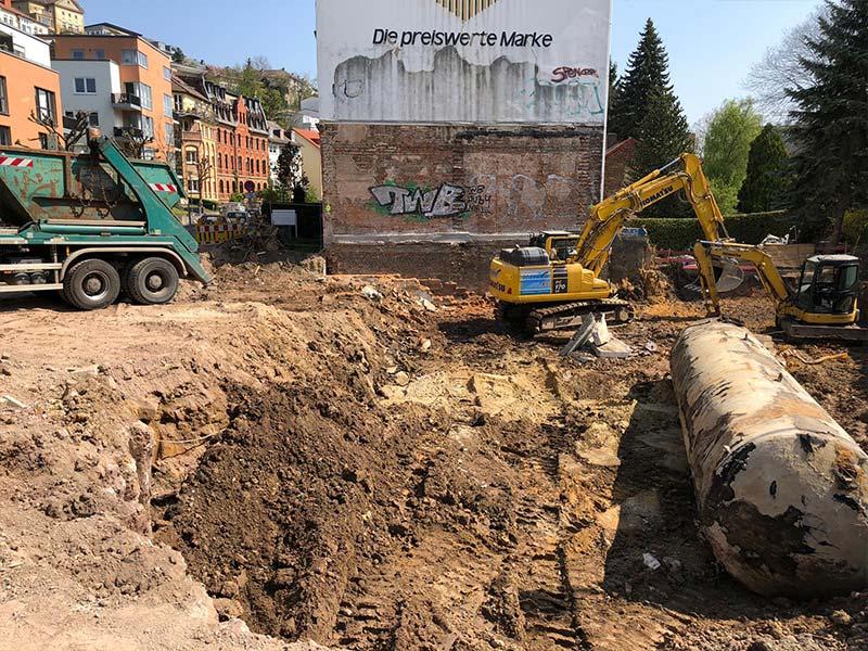 Baugrube in Kassel